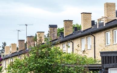 Ommurning av 7 skorstenar ovan tak