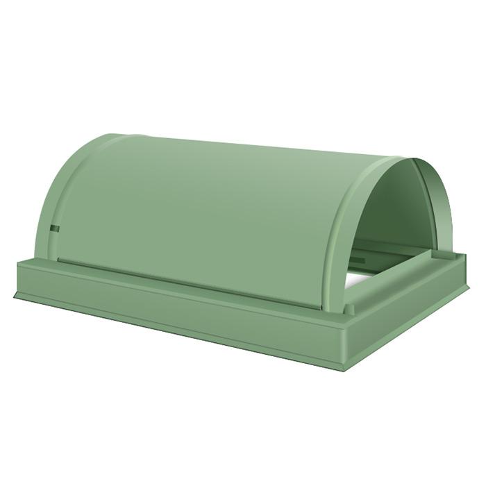 Ärggrönt skorstensskydd