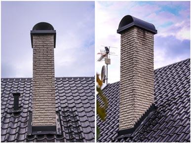 Skorstensskydd till vit mexitegel skorsten, Dalstorp